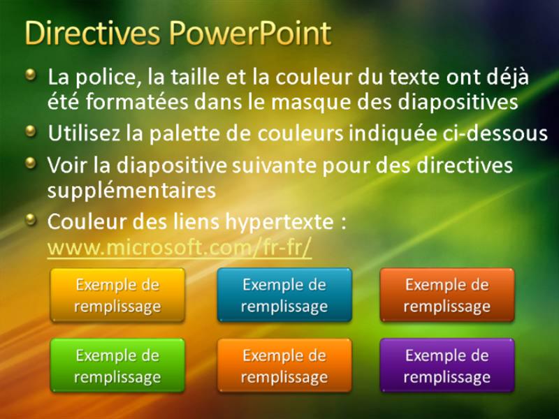 Exemples de diapositives de présentation (conception Texture vert doré)