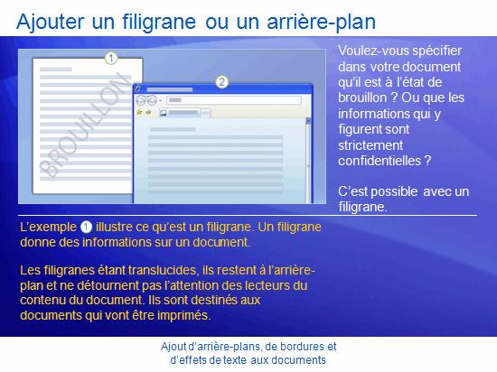 Présentation de la formation: Word 2007—Décorer les documents à l'aide d'arrière-plans, de bordures et d'effets de texte