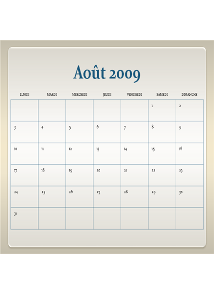 Calendrier scolaire 2009-2010 (13 pages, lun-dim)