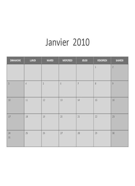 Calendrier 2010