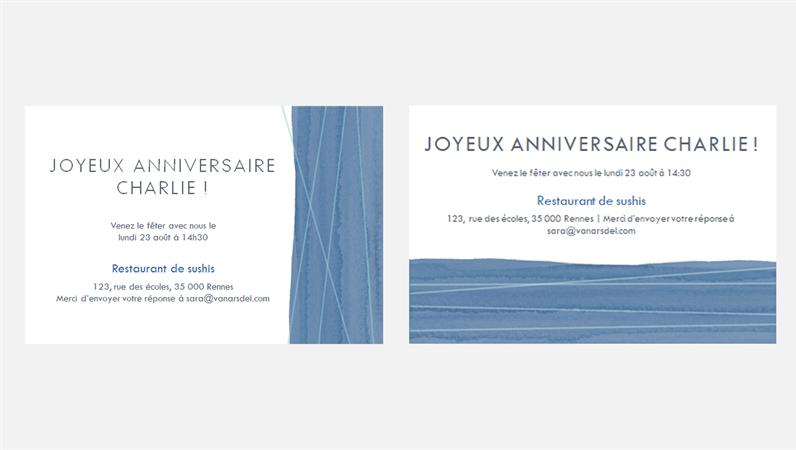 Invitation à une fête prestigieuse (deuxpar page)