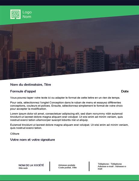 Lettre commerciale (conception Forêt verte)