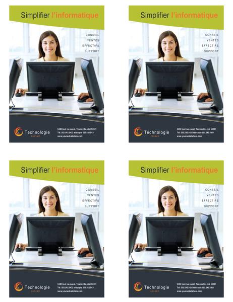 Prospectus de technologie entreprise (4 quart de page par page)