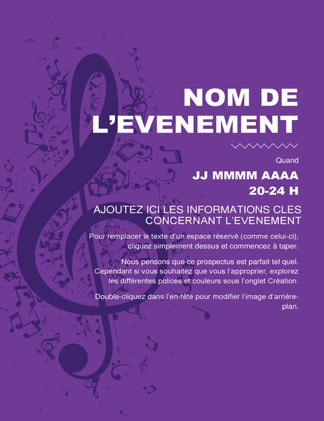 Prospectus d'événement musical