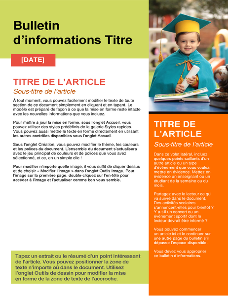 Bulletin d'informations scolaire