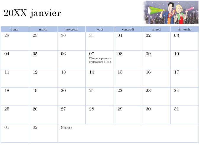 Calendrier Scolaire 2019 2020 Excel.Calendriers Office Com