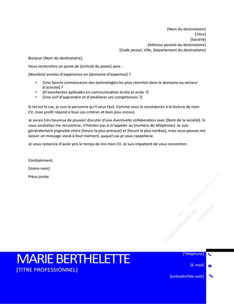 C V Et Lettres De Motivation Office Com