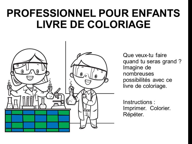 Album de coloriage Métiers pour enfants