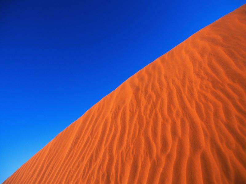 Thème désert - Dune orangée