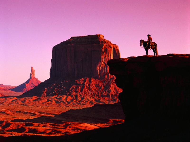 Thème désert - Cowboy dans canyon