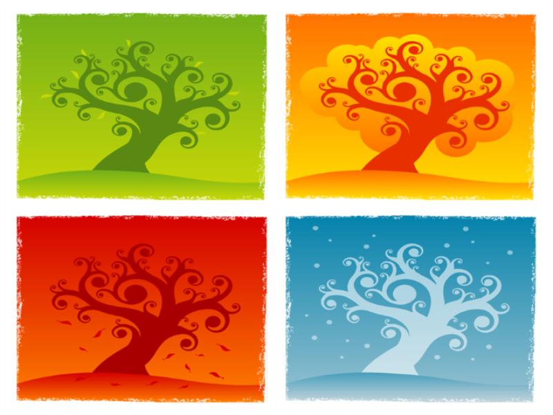 Thème automne - Concept multicouleurs
