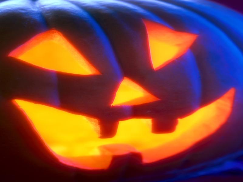 Thème halloween - Citrouille bleue