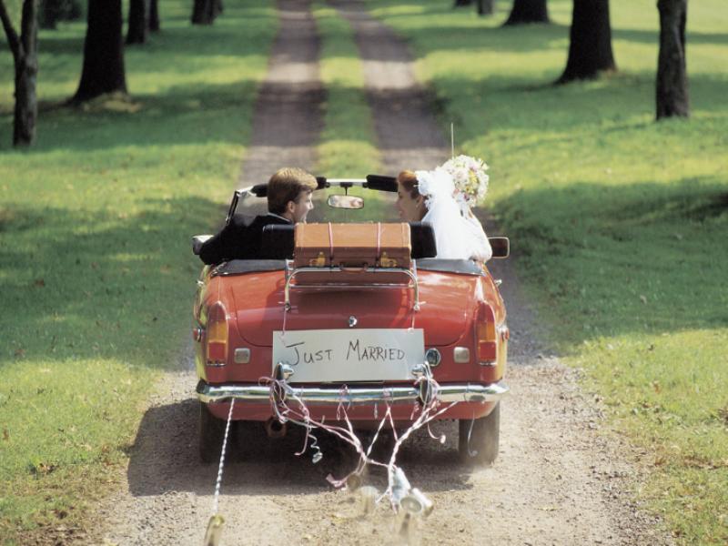Thème mariage - Juste mariés