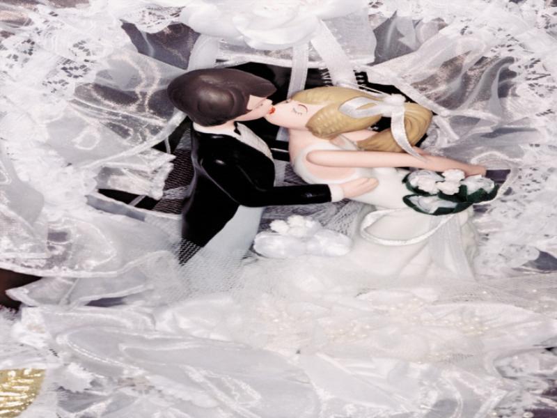 Thème mariage - Mariés en plastique
