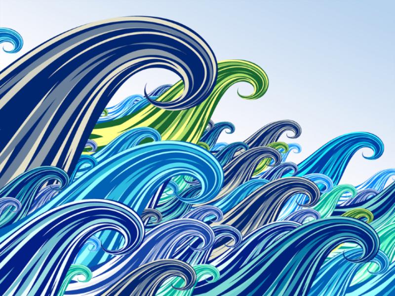 Thème mer - Concept vagues gigantesques