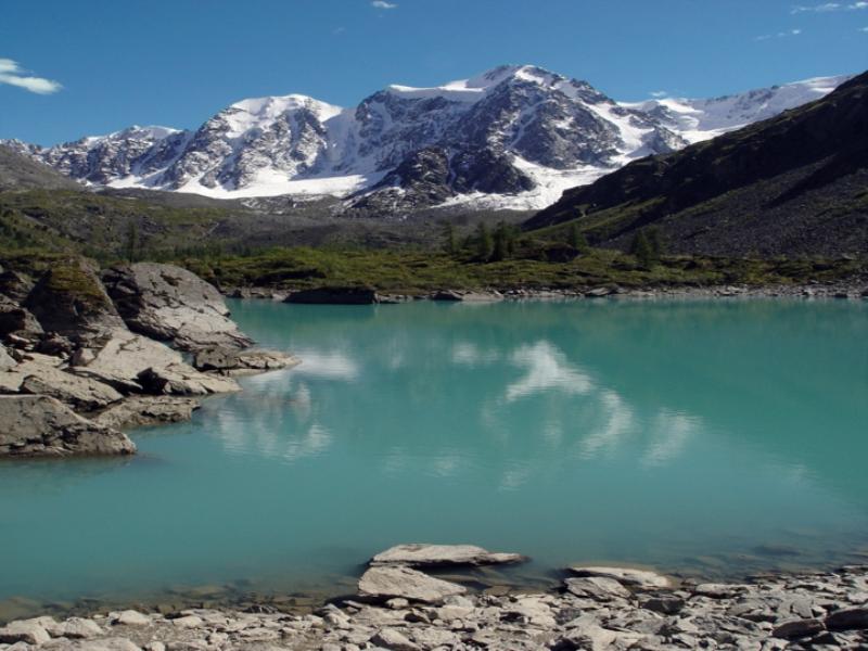 Thème montagne - Lac vert