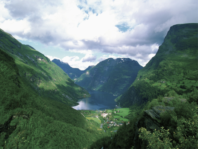 Thème montagne - Vallée verte