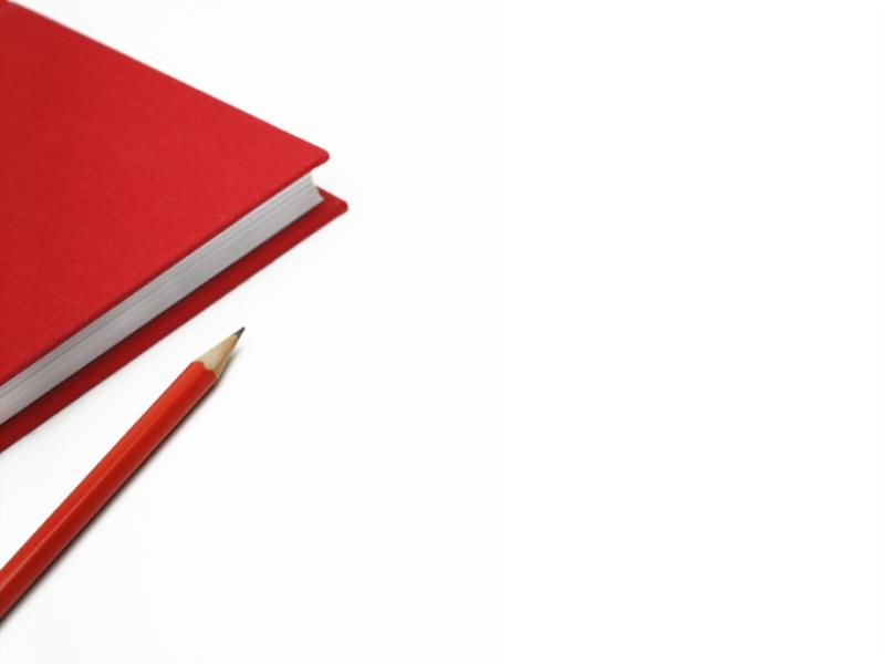 Thème scolaire - Cahier rouge