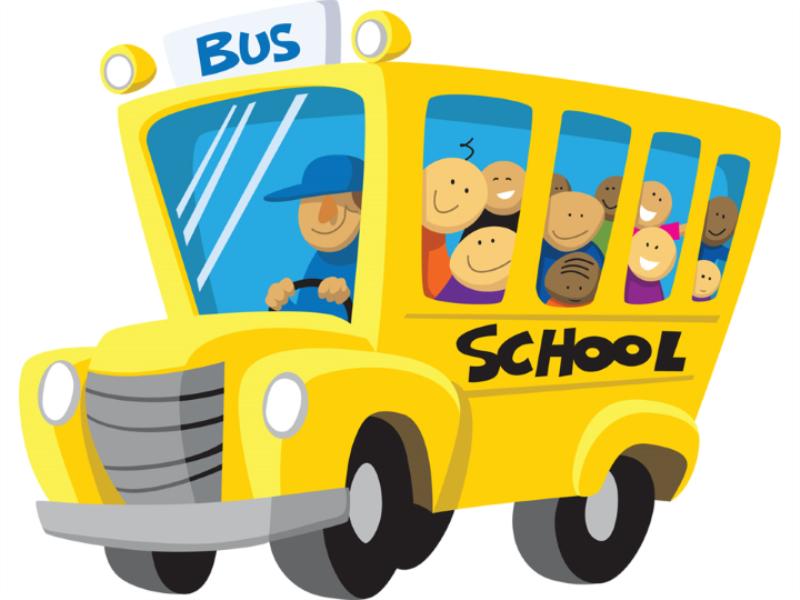Thème scolaire - Bus avec écoliers