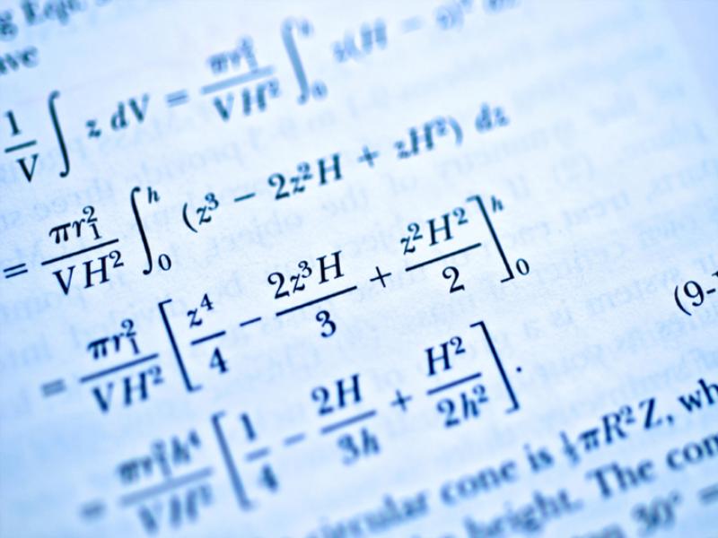 Thème scolaire - Formules mathématiques