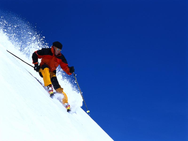 Thème ski - Poudreuse verticale