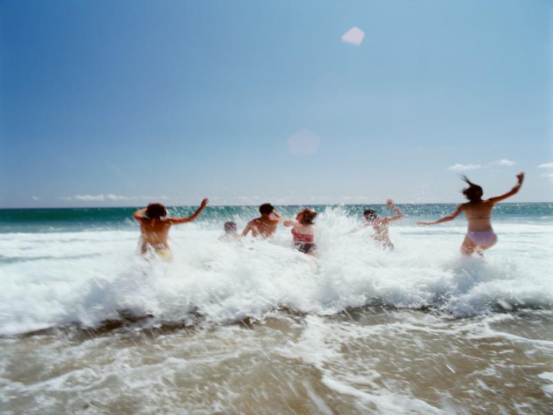 Thème vacances - Bain de mer