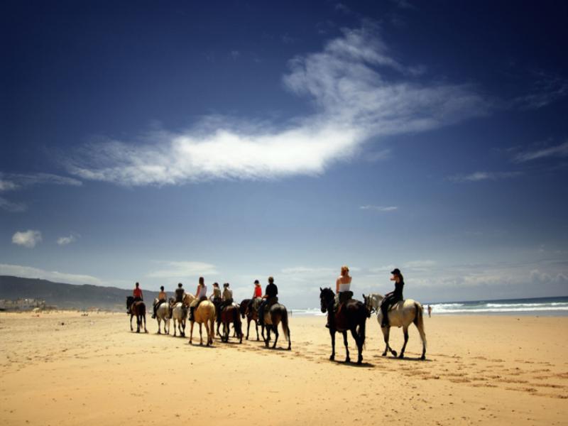 Thème équitation - Promenade sur la plage