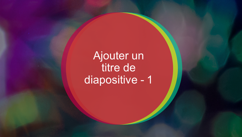 Diapositive de titre animée Cercles