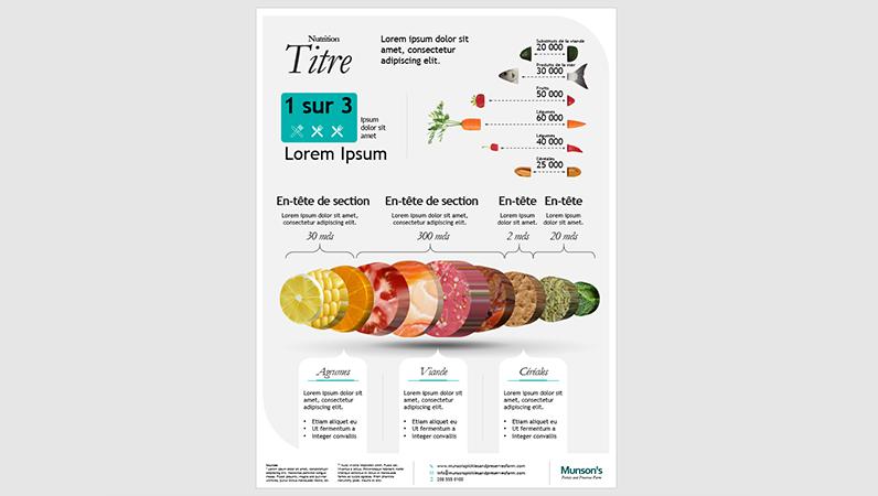 Affiche d'infographie nutritionnelle