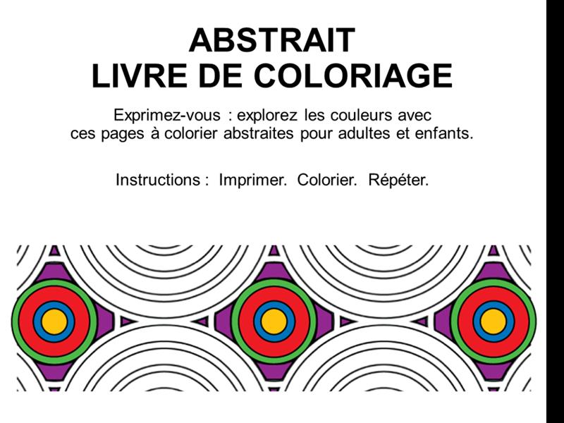 Album de coloriage Formes abstraites