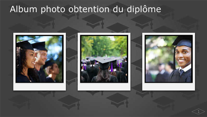 Album photo obtention du diplôme