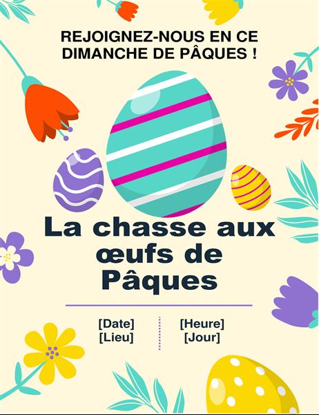 Prospectus Chasse aux œufs de Pâques aux couleurs du printemps
