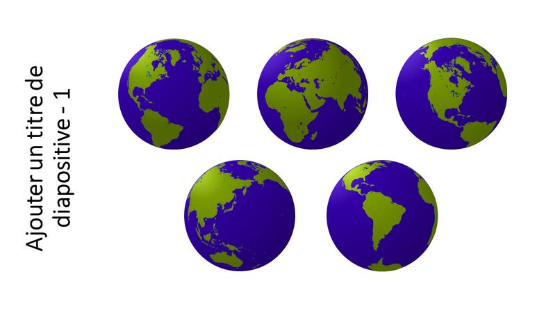 Graphique Cinq vues d'un globe