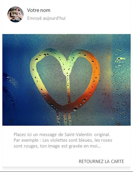 Coeur dans la brume Valentine