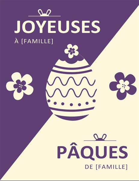Carte de Pâques violette