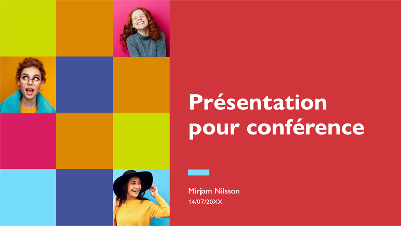 Présentation de conférence colorée