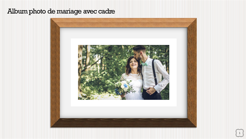 Picture frame wedding photo album