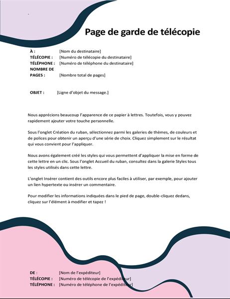 Page de garde de télécopie Formes organiques