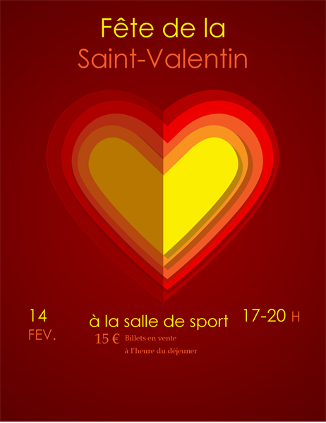 Prospectus de Saint-Valentin Cœurs