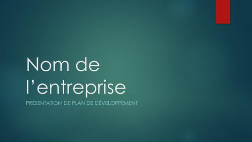 Présentation de plan d'affaires (vert ionisé, grand écran)