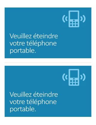 Affiche de rappel d'extinction des téléphones portables (bleu)
