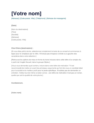 Cv Et Lettres De Motivation Officecom