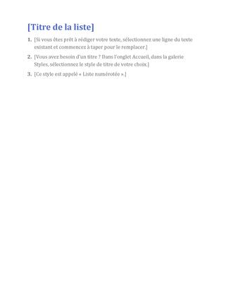 Liste simple