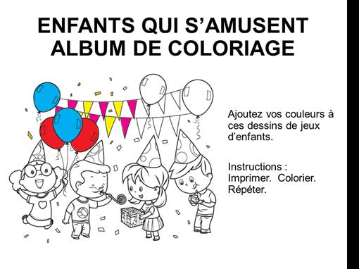 Album de coloriage Jeux d'enfants