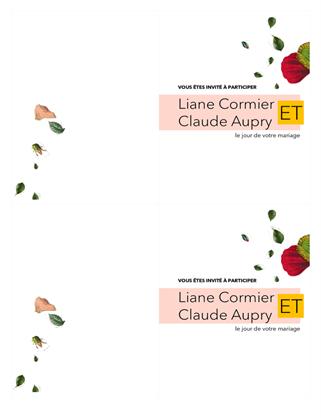 Invitation de mariage fleurie