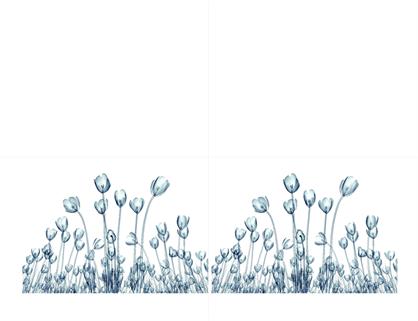 Cartes de vœux de vues florales (10cartes, 2 par page)