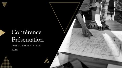 Présentation pour conférence style géométrique
