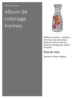 Album de coloriage Formes