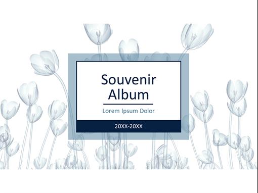 Album de souvenir d'inspiration florale