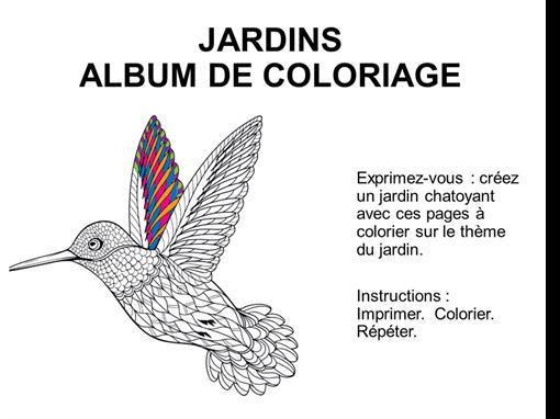 Album de coloriage Jardins